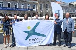 Braga recibe a bandeira  dos Xogos do Eixo para a súa organización en 2019