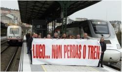 Compromiso político unánime para esixir que Lugo teña un tren digno