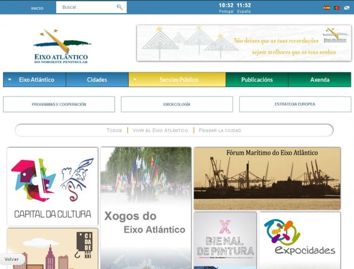 Eixo Atlántico estrena nueva web más cómoda y útil