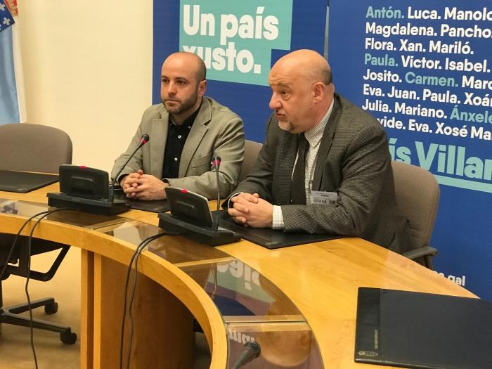 El secretario general del Eixo se reúne con el líder de la oposición en el Parlamento gallego