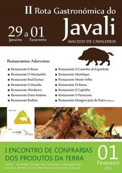 Jabalí con ruta gastronómica en Macedo de Cavaleiros