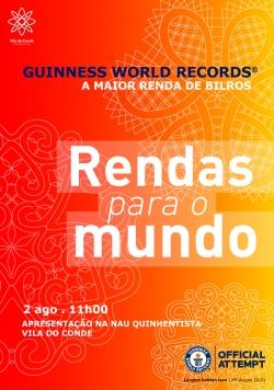 Vila do Conde acoge la gran fiesta del GUINNESS WORLD RECORDS de Encaje de Bolillos