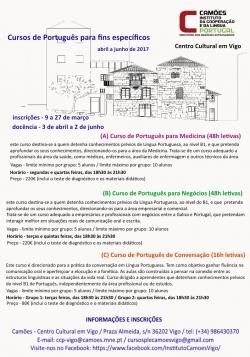 Cursos de português no Instituto Camöes de Vigo