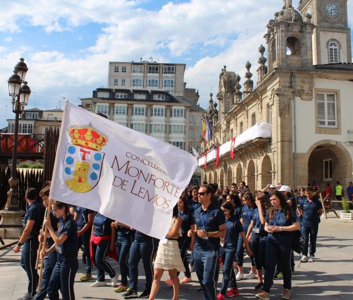 Comezan os Xogos do Eixo Atlántico co gran desfile dos participantes polas rúas de Lugo