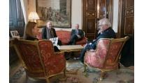 El presidente de la RIET aborda con Ana Pastor la Interparlamentaria de Frontera