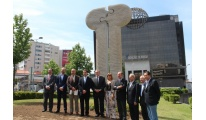 Inaugurada la Plaza del Eixo Atlántico en Braga