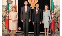Los Reyes y el Presidente de Portugal en la asamblea del Eixo Atlántico